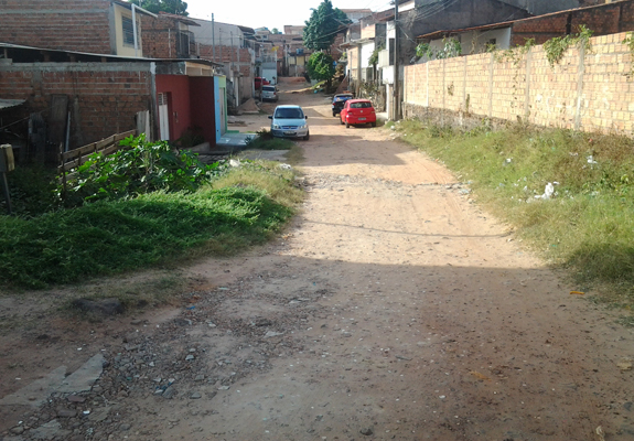 Entrada da rua São Bento, no Bequimão