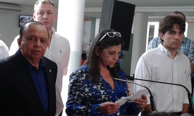 Governadora Roseana Sarney durante a entrega do hospital Pam Diamante
