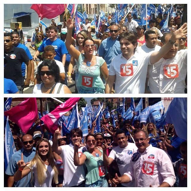 Sem participação de Gil Cutrim, Paulinha Lobão e Rodrigo Valente fazem caminhada em Ribamar. Foto: Facebook