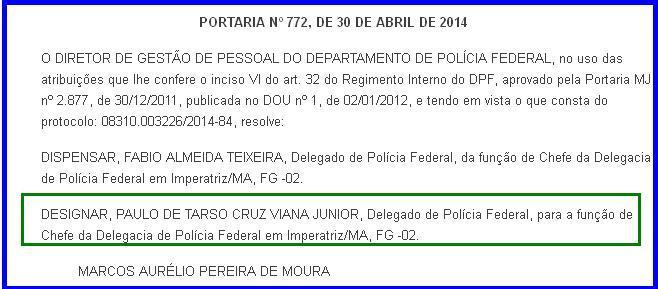 delegado federal Paulo de Tarso Cruz Viana Júnior 2