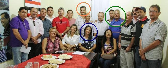 Familiares do delegado federal Paulo de Tarso Cruz Viana Júnior que apoiam Flávio Dino