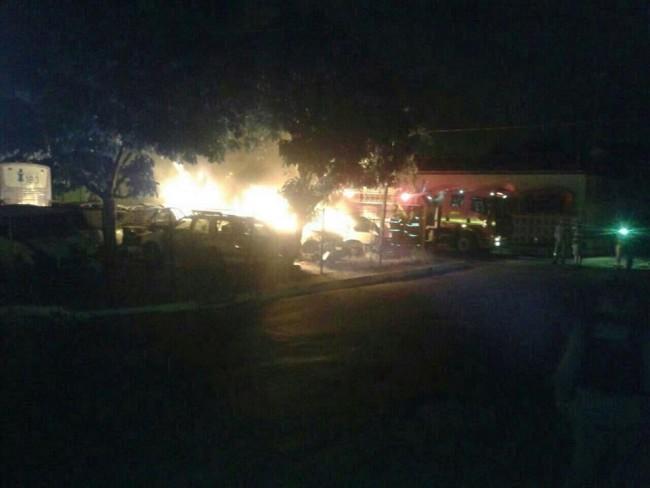 Carro que foi queimado dentro da Secretaria de Segurança