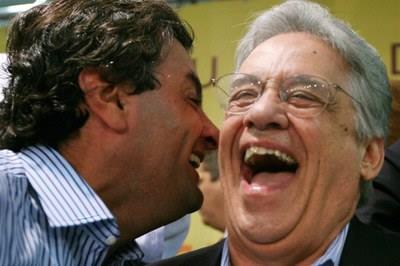 Aécio Neves e Fernando Henrique Cardoso