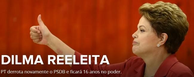 Presidente reeleita Dilma Rousseff