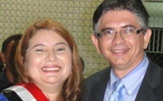 Prefeita Iracema seu esposo Herlon Costa