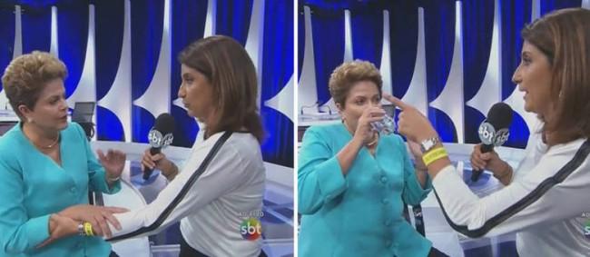 Repórter que conduzia entrevista ajudou Dilma a sentar depois que presidente falou que não estava bem