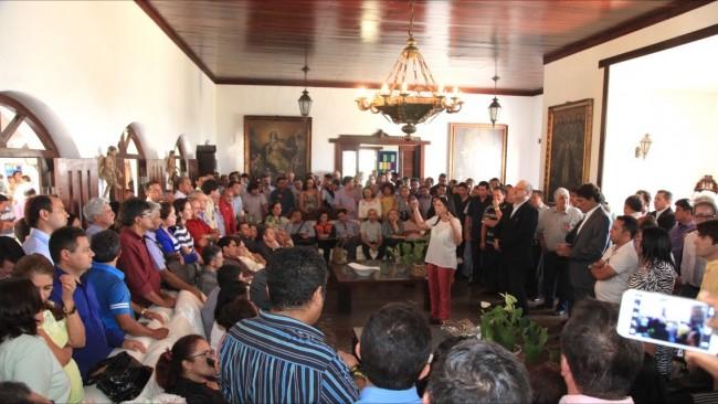 Roseana Sarney em reunião com deputados, prefeitos e lideranças na casa do Calhau