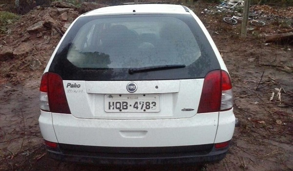 Placa do carro do auditor fiscal