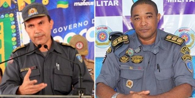 Coronéis Alves (Comandante Geral) e Sá (Subcomandante Geral)