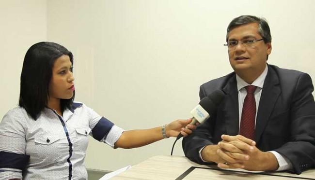 Flávio Dino durante entrevista (Foto Augusto Sampaio)