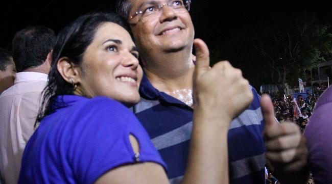Luana Alves ao lado de Flávio Dino