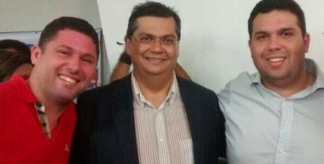 Prefeito Hernando Macedo, governador eleito Flávio Dino e o deputado eleito Fábio Macedo