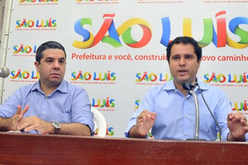 Rodrigo Marques ao lado do prefeito Edivaldo Holanda Júnior