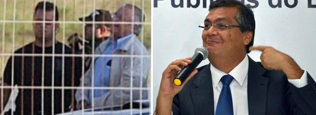 A imagem que a população maranhense jamais vai esquecer: Zé Reinaldo Tavares sendo preso pela PF; Flávio Dino parece não estar nem aí