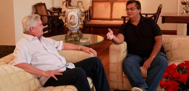 Arnaldo Melo ao lado do próximo governador Flávio Dino