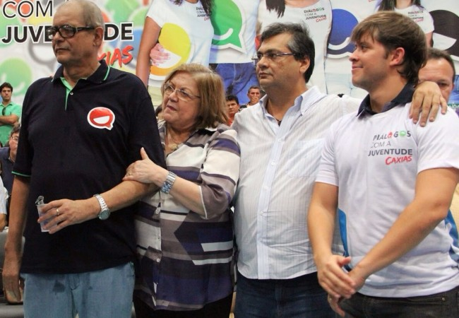 Família Coutinho recendo os privilégios de Flávio Dino: Humberto, Cleide e Léo