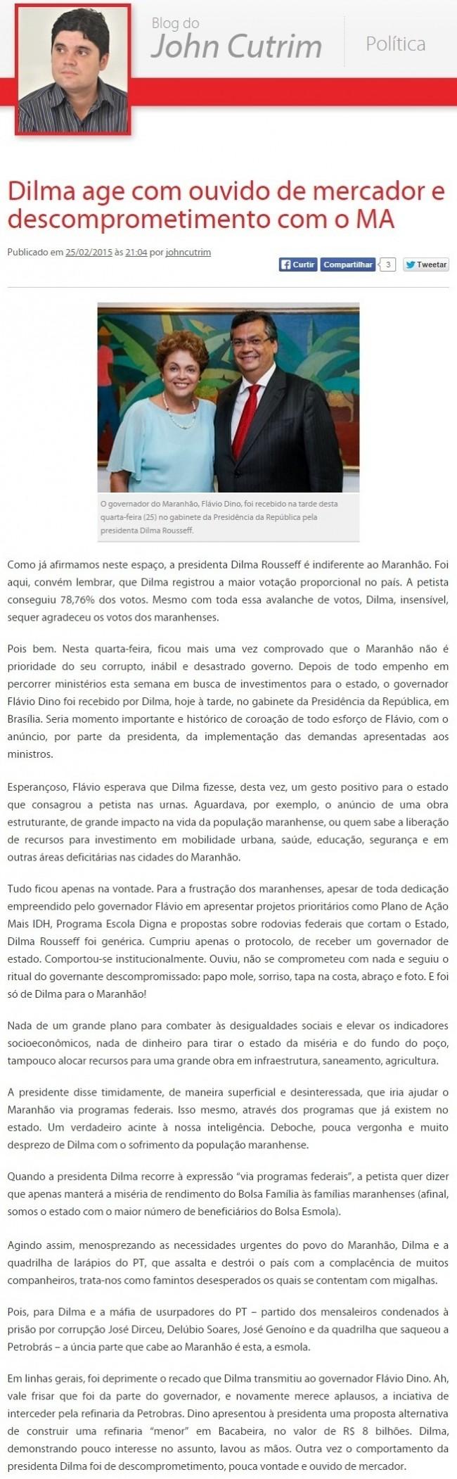 Flávio Dino - Dilma Rousseuff
