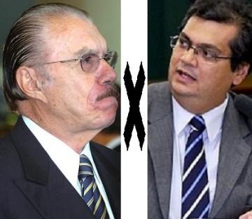 Sarney e Flávio Dino travam discussão