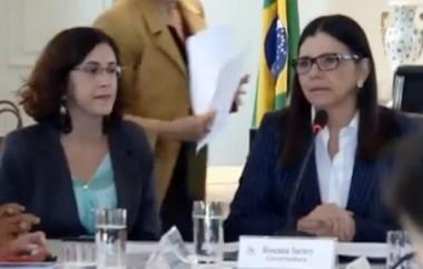 Camila Barbosa Neves ao lado da ex-governadora Roseana Sarney