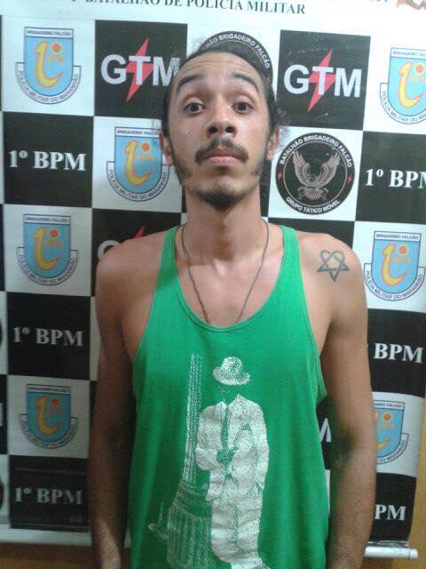 Elemento preso pela polícia,  Nairon Botão, genro do secretário Márcio Jerry