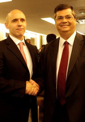 Governador Flávio Dino e o presidente da empresa, Pedro Zinner