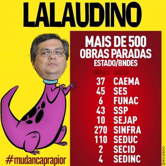 Governador Flávio Dino, agora mais conhecido como o Lalaudino do MA, segundo Ricardo Murad