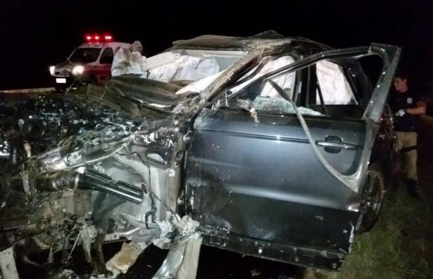 Capotamento aconteceu na BR-153, entre Goiatuba e Morrinhos, em Goiás