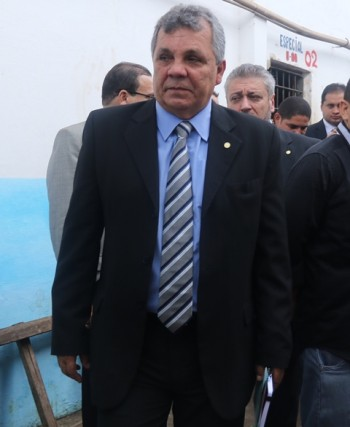 Deputado Alberto Fraga durante visita ao Complexo de Pedrinhas