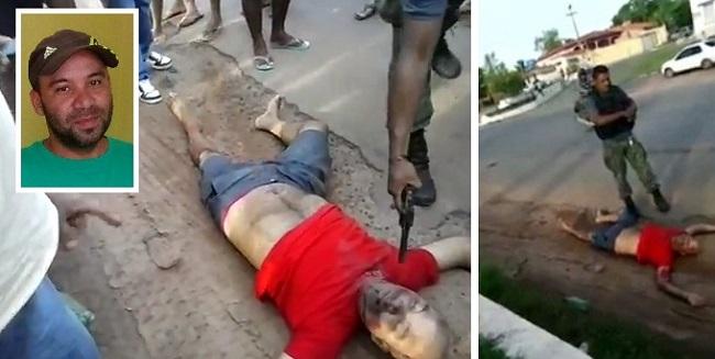 Mecânico Irialdo Batalha sendo barbaramente executado em plena praça pública