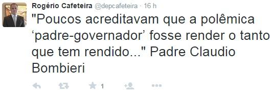 Deputado Rogério Cafeteira - Twitter