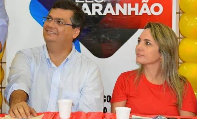 Flávio Dino e Simone Limeira