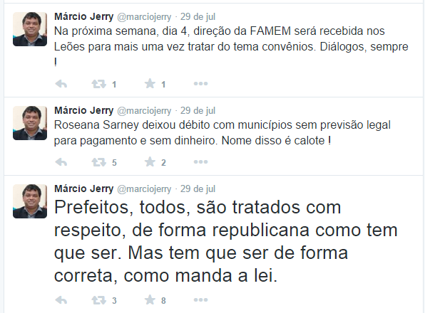 Márcio Jerry - prefeitos