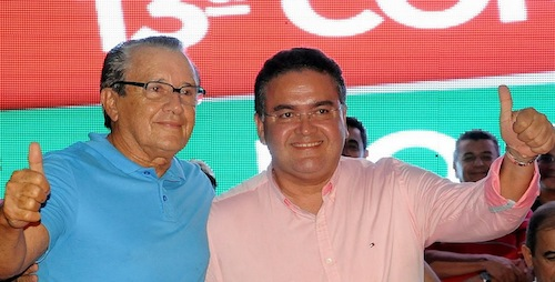 Zé Reinaldo ao lado de Roberto Rocha