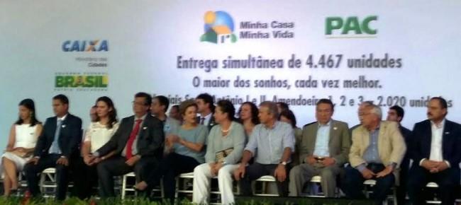Flávio Dino ao lado de Dilma presenciando o fracasso e a falta de prestígio no Maranhão