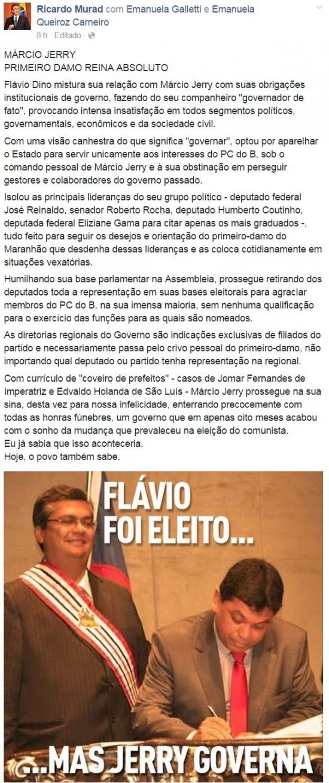 Ricardo Murad - Flávio Dino e Márcio Jerry