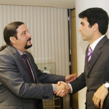 Deputado Júnior Verde e o ministro Helder Barbalho