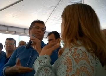 Flávio Dino e Maura Jorge discutindo