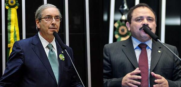 Presidente Eduardo Cunha e vice-presidente Waldir Maranhão