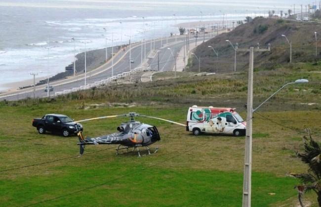 Helicóptero que levou Sarney para São Luís pousou no morro da Praia de São Marcos