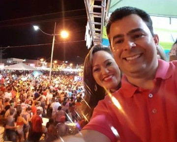 Prefeito Eric Costa e a primeira dama Bruna