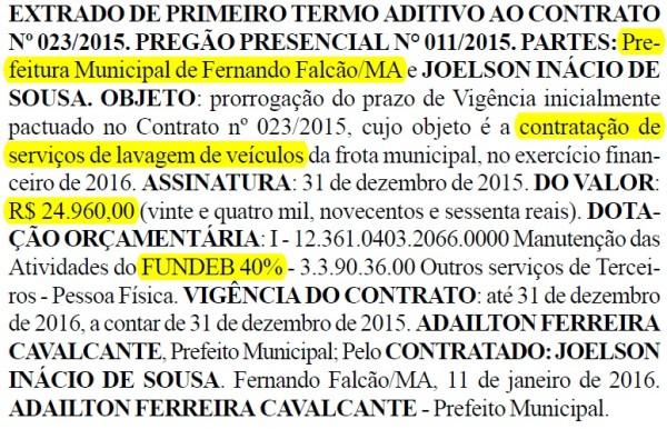 Prefeitura de Fernando Falcão - dia 18 de janeiro