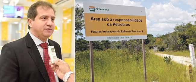 Secretário Simplício Araújo e o terreno abandonado da Refinaria