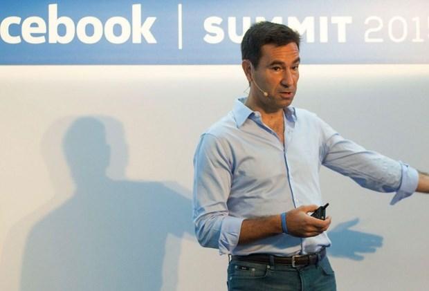 Diego Dzodan, vice-presidente do Facebook para América Latina, em evento da rede social de 2015