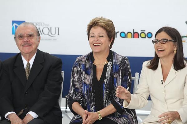 Sarney, Dilma e Roseana, que até então eram grandes aliados