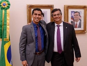 Deputado Marco Aurélio ao lado do seu governador Flávio Dino