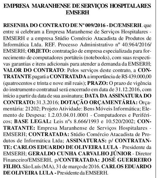 Governo Flávio Dino - EMSERH