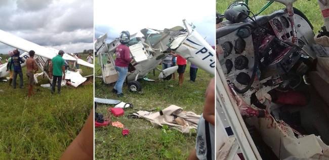 Só os destroços da aeronave que caiu no interior do MA