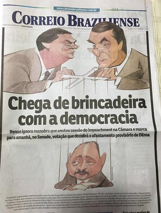 Correio Braziliense - Flávio Dino - Waldir Maranhão