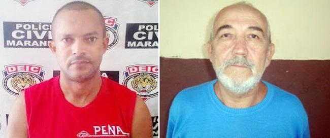 Carlos Alberto Mesquita, o 'Sharon', e Sebastião Soares da Silva, o Velho