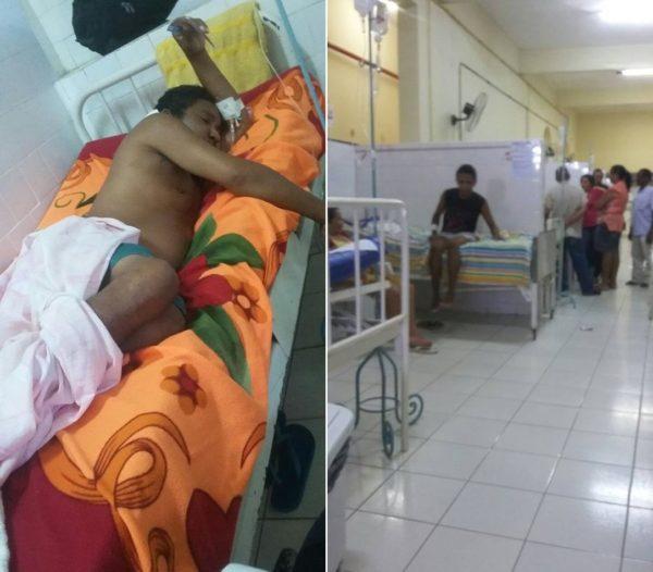 Paciente José Vandro e outros pacientes no Anexo I do Socorrão